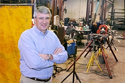 James L. Craft in the company's welding & fabrication shop