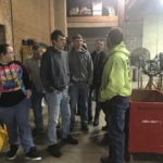 Pre-Fab Shop Foreman (Kris Jordan) answers questions from student