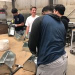 Visiting students got to build their own tool box