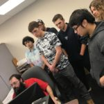 Students observe CAD Operator Chad Leiphart